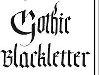 Gothic Calligraphy Example