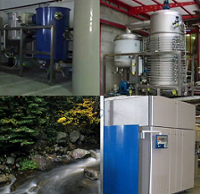 Maintaining highly efficient waste water evaporators