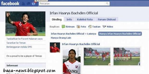 Fans Page Facebook Irfan Bachdim