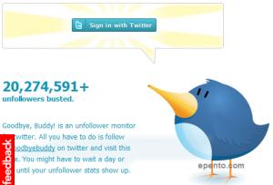 GoodByeBuddy | Situs Untuk Mengetahui Siapa Yang Unfollow Kamu Di Twitter
