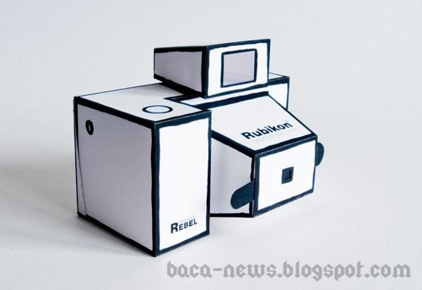 Desain-Desain Kamera Foto Keren Dari Kertas