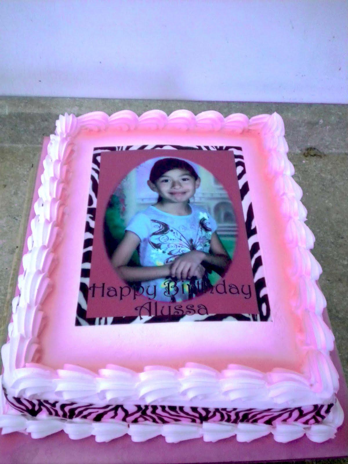 Hector S Custom Cakes Zebra Birthday Sheet