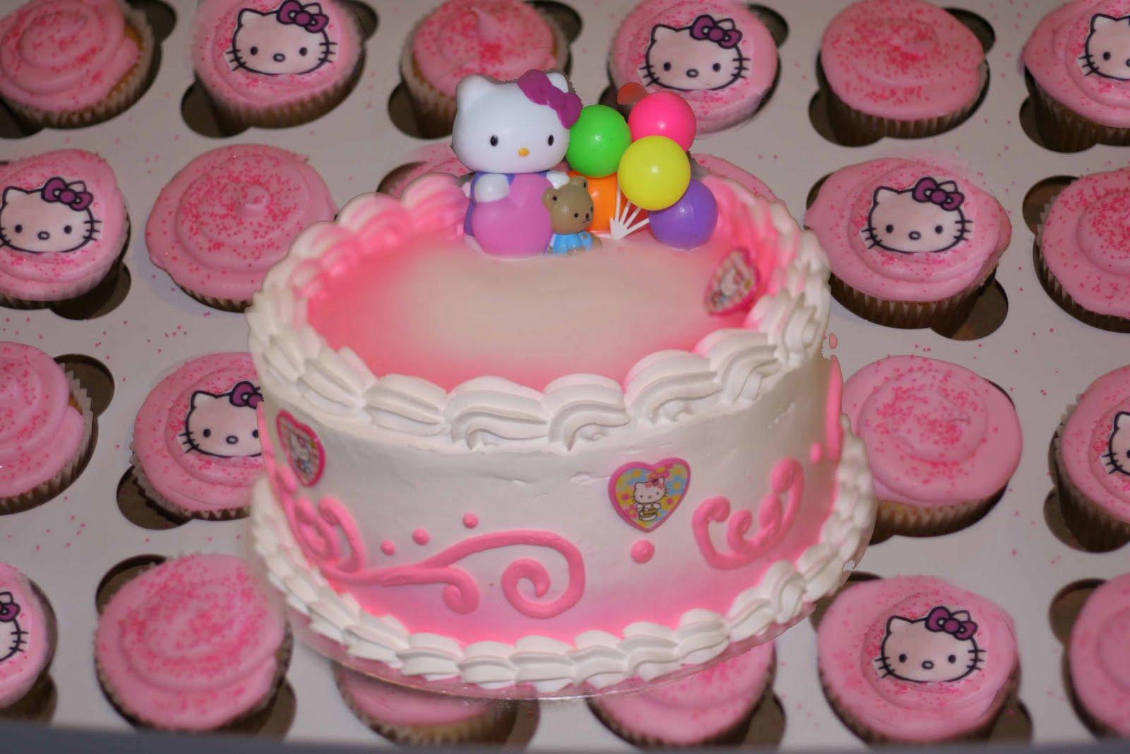 Hectors Custom Cakes Hello Kitty Cake With Cupcakes