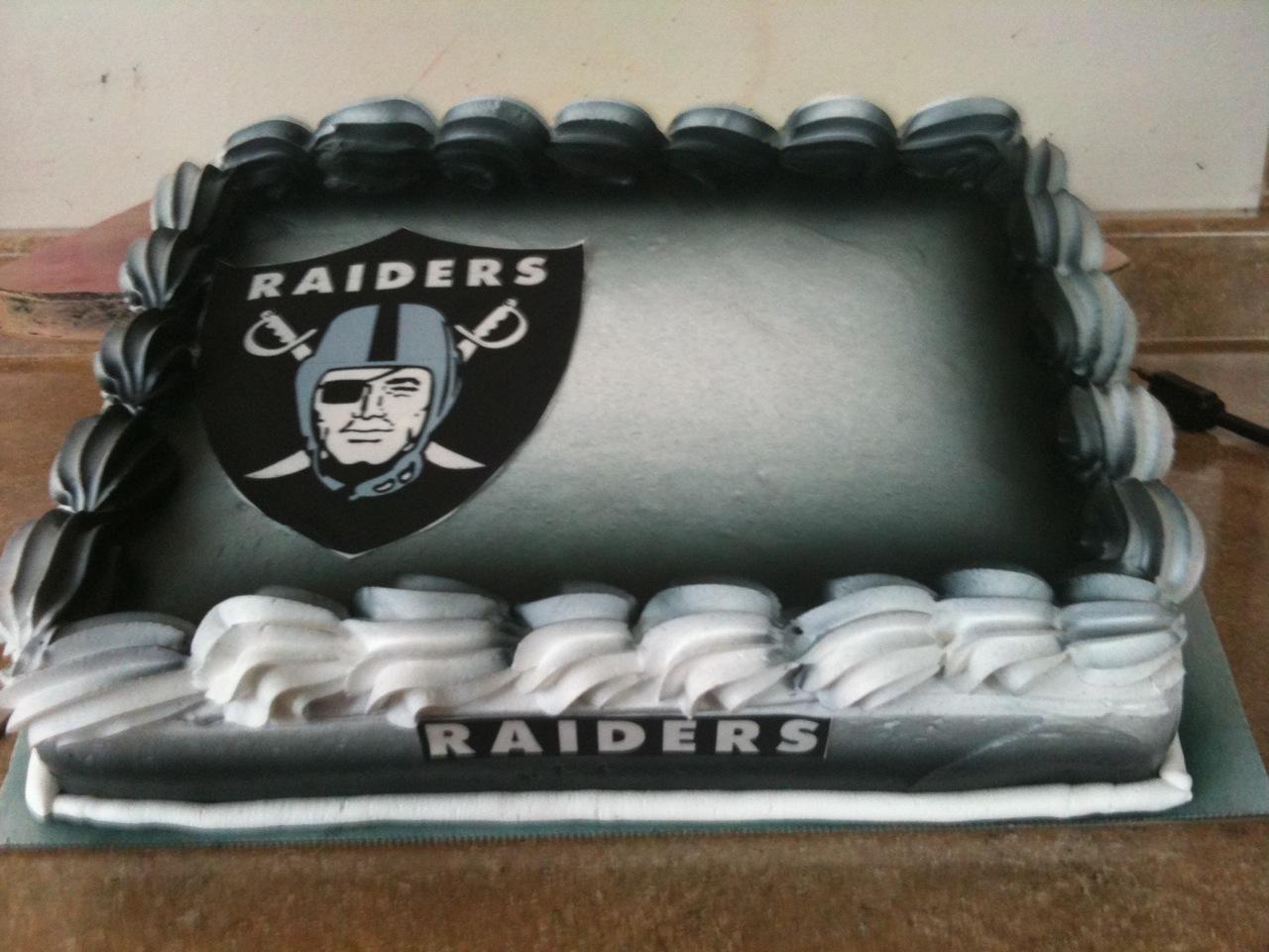 Hectors Custom Cakes Raiders Cake