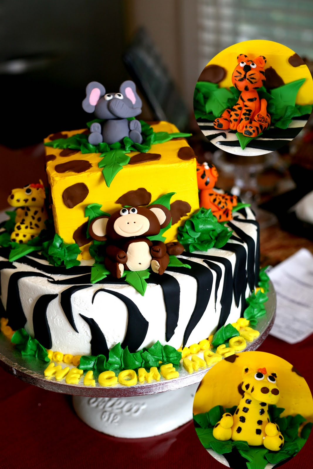 Hector's Custom Cakes: Jungle Animal Cake / Safari Cake / 3D Jungle