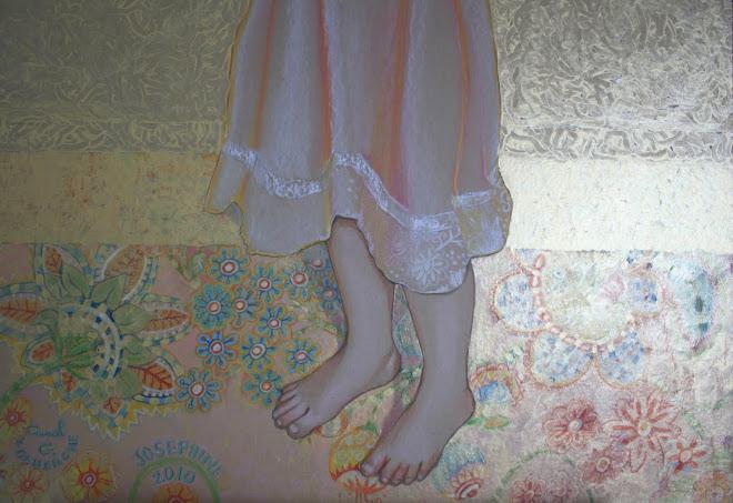 Pastel sur carton - Joséphine grandeur nature