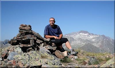 Pico de Estós mendiaren gailurra  -  2008ko abuztuaren 6an