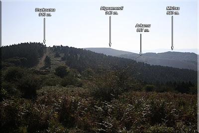 Panorámica desde Troke o Castillo de Landa (893 m.)