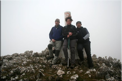 Muela mendiaren gailurra 1.055 m.  -  2009ko otsailaren 22an
