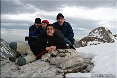 Budogia mendiaren gailurra 2.366 m.  -  2009ko azaroaren 21ean