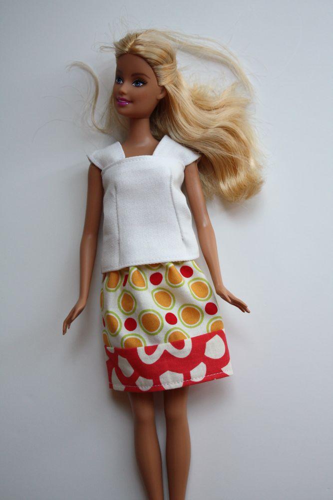 Как сделать кукле барби юбку