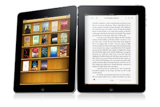 iPad Kindle bookshelf
