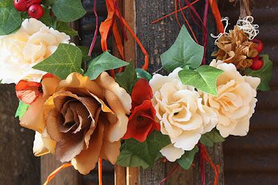 róże herbaciane - wieniec