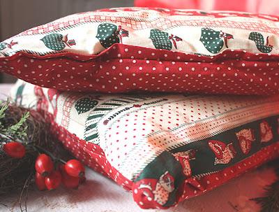 christmas pillow - poduchy rustykalne na Boże Narodzenie