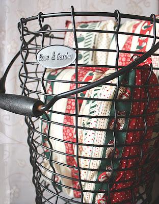 kosz metalowy z rączką - Home&Garden