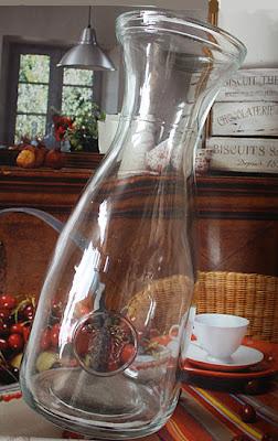butelka w tylu retro