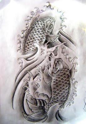 berikut ini adalah disain tatto ayng kerren koi fish design tatto
