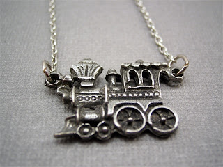 train engine necklace