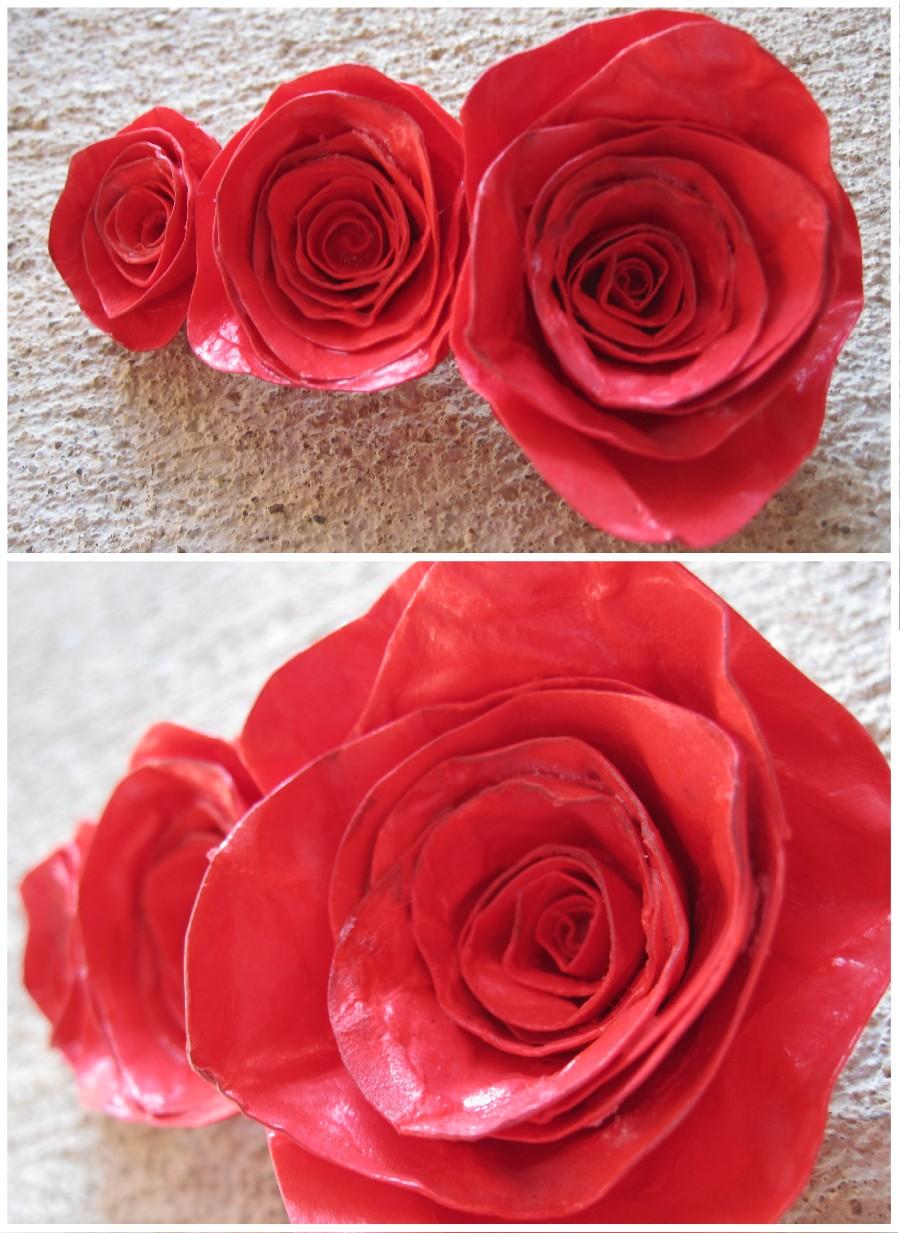 Как сделать разноцветные розы из бумаги
