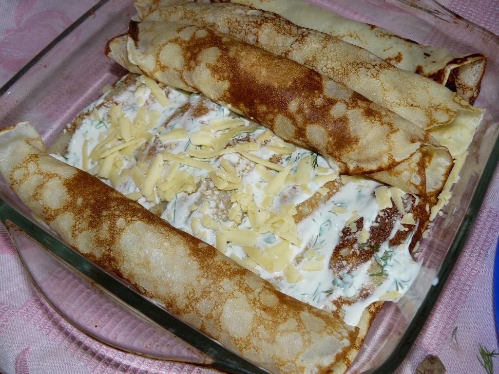 Фаршированные блины в духовке рецепт с фото