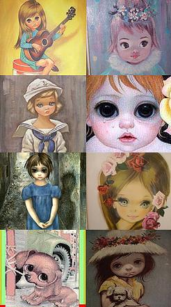 "Vintage ""Big Eyes"" Art"