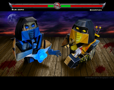 sub zero vs scorpion fatality. sub zero vs scorpion fatality.