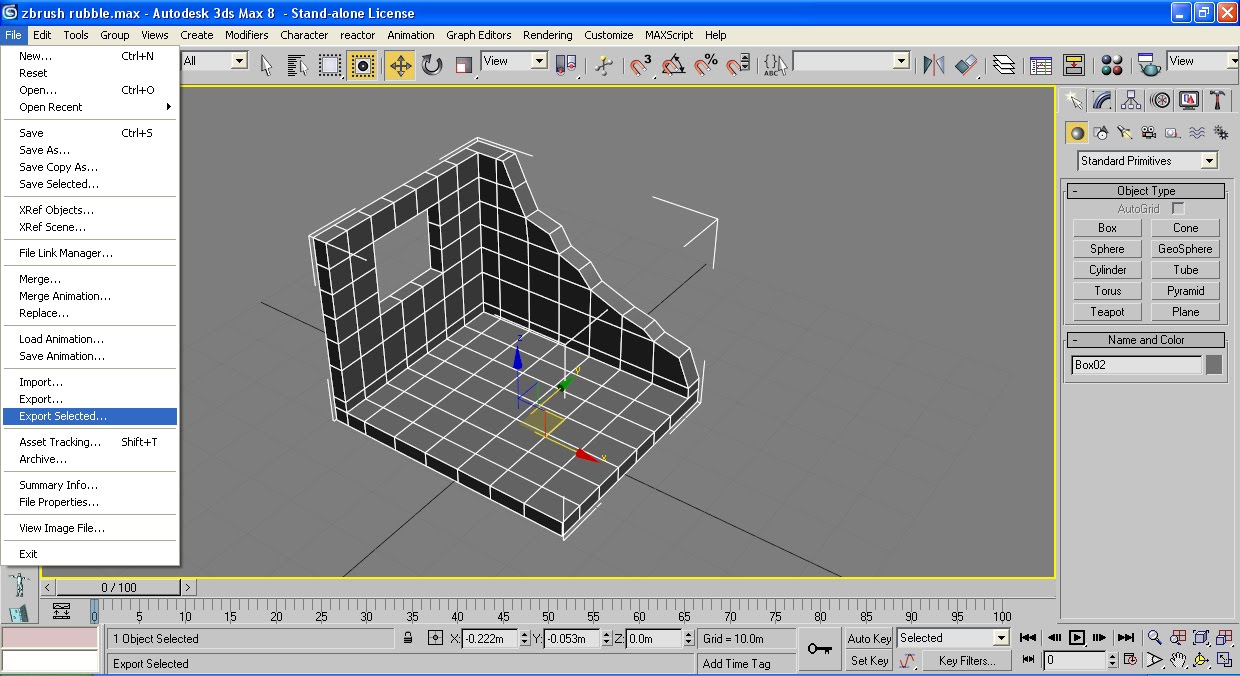 Displacement for dummies- zbrush 35 to 3ds max 2010