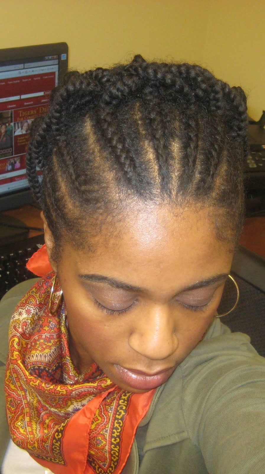 Naturally Elegant: Hairstyle: Cornrow & Individual Braid Updo