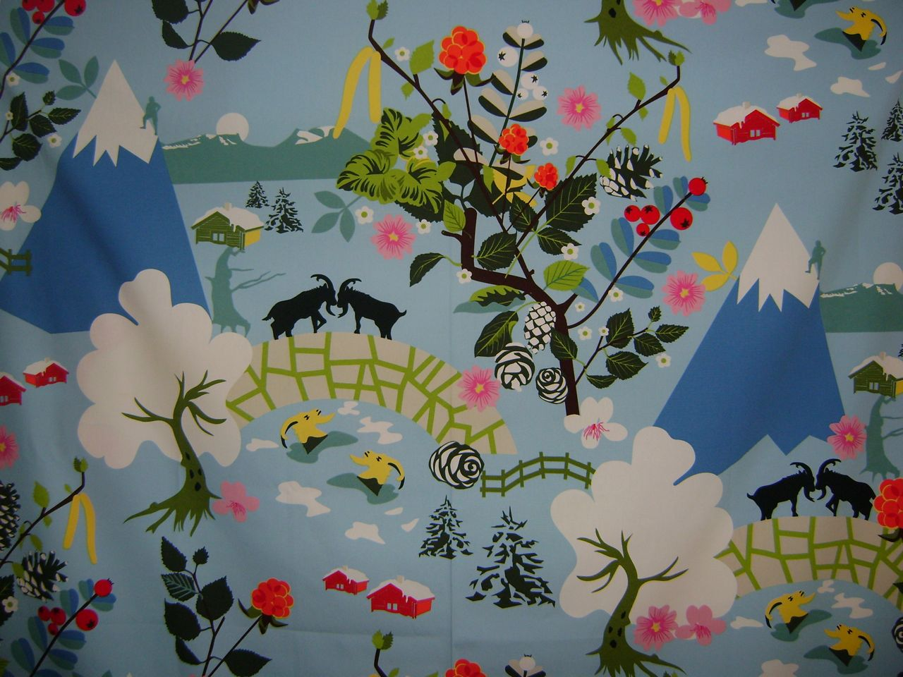 my rose valley ikea fabric