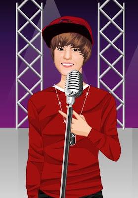 Justin Bieber Cartoon Pictures In Concert