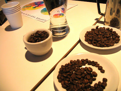 Beans and a tasting Guide at Trabant