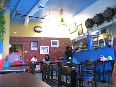 Interior of the Athina Grill