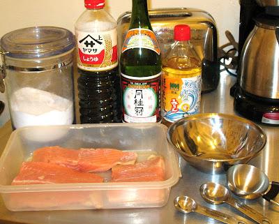 salmon teriyaki ingredients