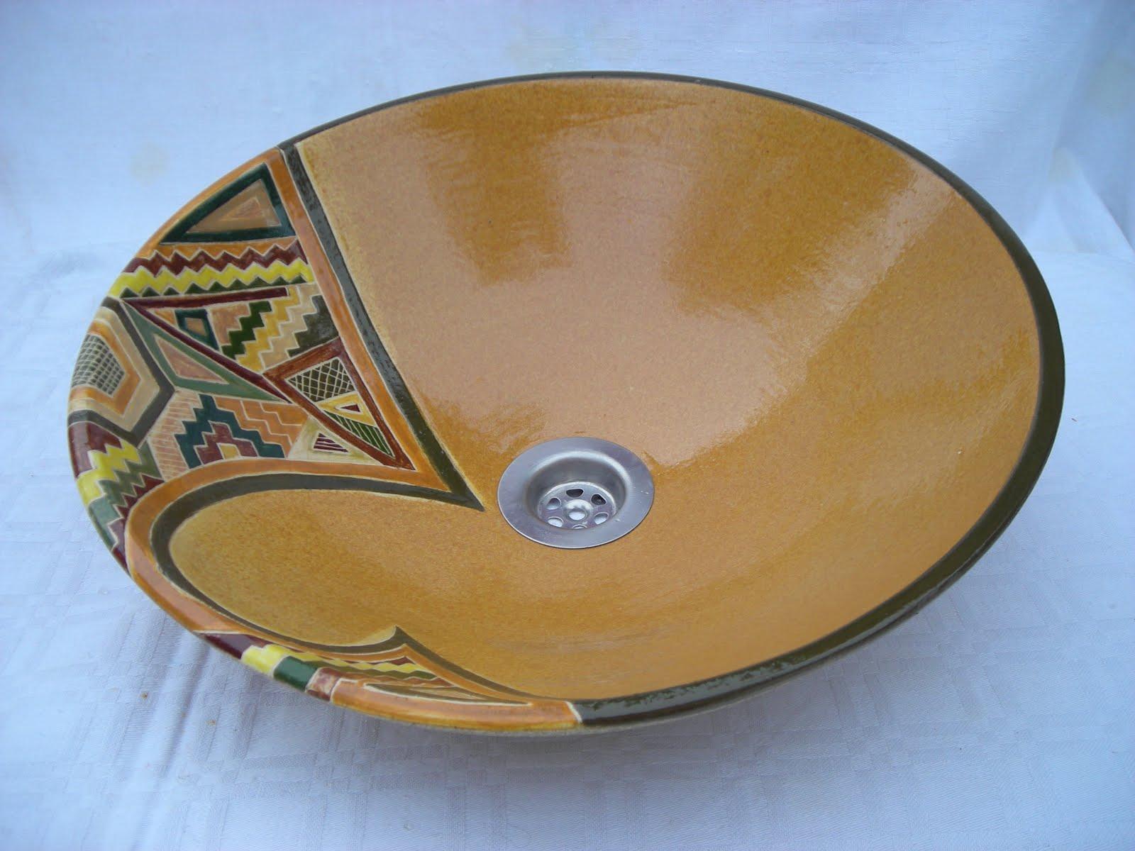leda olmos cerámica: bachas - Bachas Para Bano Pintadas A Mano