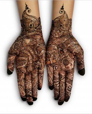 henna para tatuajes temporales. un tatuaje de henna. Para - Tatuaje de henna