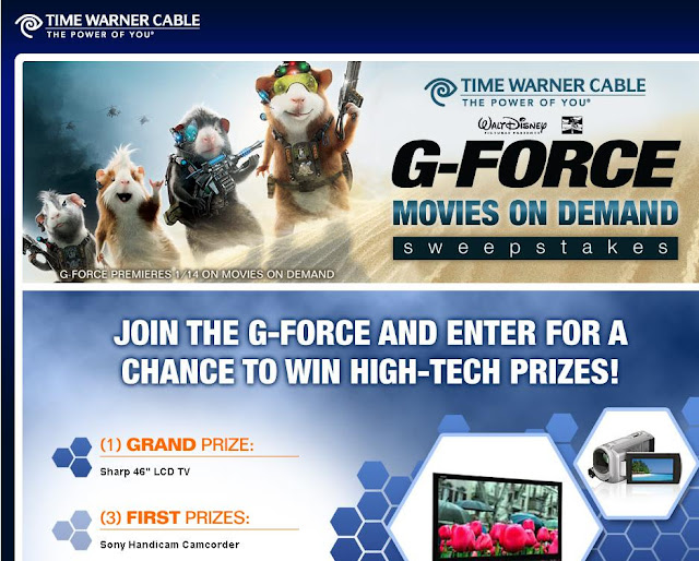 Twondemand.com/gforce - G Force Movies on Demand Sweepstakes