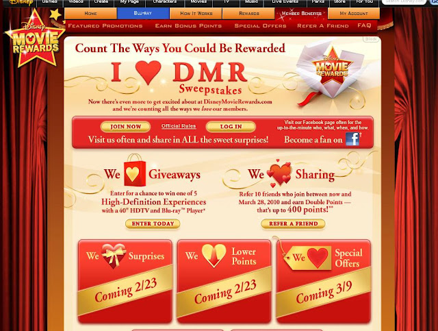 DisneyMovieRewards.com/Heart - I Heart DMR Sweepstakes