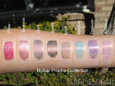 Nubar, Prism Collection, swatches, Prize, Essence, Gem, Jewel, Spark, Absolute, Treasure, Brilliance