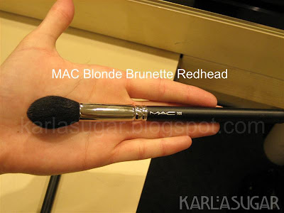 MAC, Blonde, Brunette, Redhead, BBR, brushes, 165