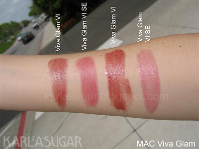 Viva Glam, MAC, swatches, VGVI, VGVI SE
