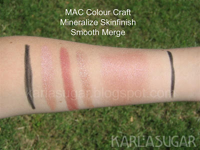 MAC, Colour Craft, Color Craft, Mineralize, Skinfinish, swatches, Smooth Merge