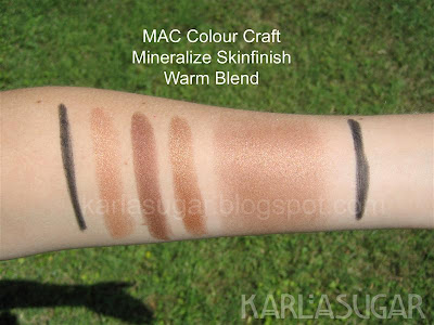 MAC, Colour Craft, Color Craft, Mineralize, Skinfinish, swatches, Warm Blend