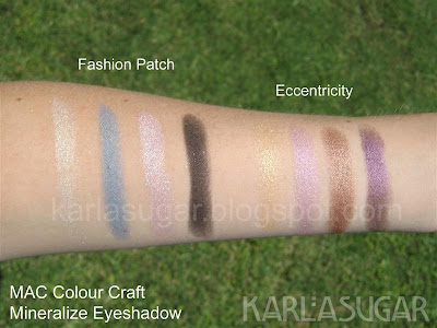 MAC, Colour Craft, Color Craft, eyeshadow, mineralize, swatches, Fashion Patch, Eccentricity