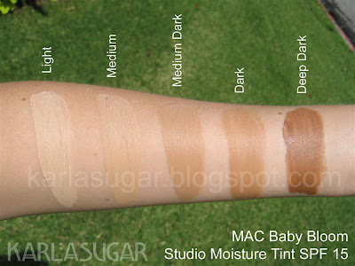 MAC, Baby Bloom, swatches, Studio Moisture Tint