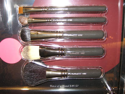 MAC, Magic, Mirth, Mischief, display, brush bags, Wave of a Wand, 129, 190, 212, 227, 275