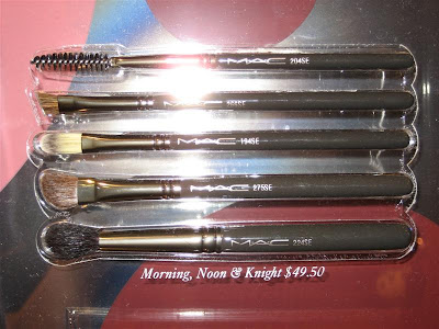 MAC, Magic, Mirth, Mischief, display, brush bags, Morning, Noon, and Knight, 194, 204, 224, 266, 275