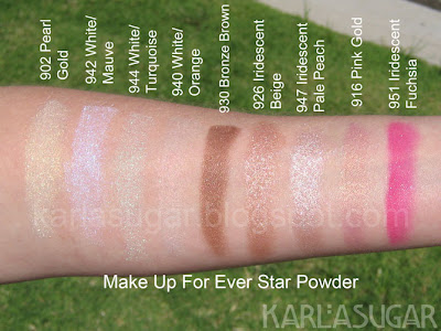 Makeup Forever, MUFE, Star Powder, swatches