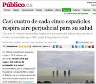 Casi cuatro de cada cinco españoles respira aire perjudicial para su salud