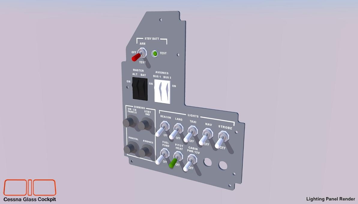 Cessna 172 Glass Cockpit Simulator Small Circuit Breaker Re