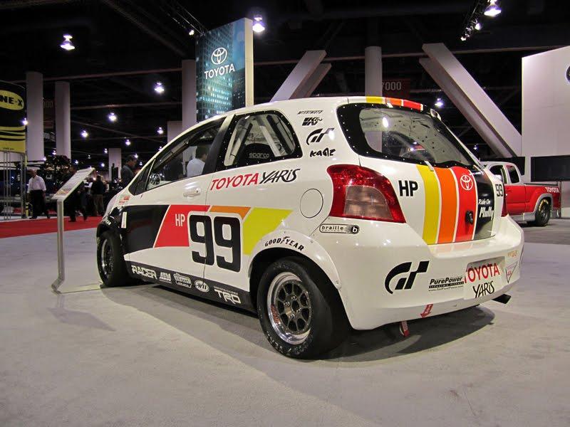 Stripped Yaris Race Car